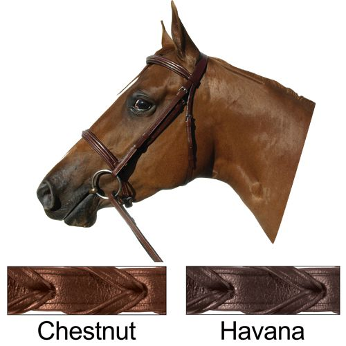 Paris Tack Fancy Padded Bridle Warmblood Chestnut Best Price