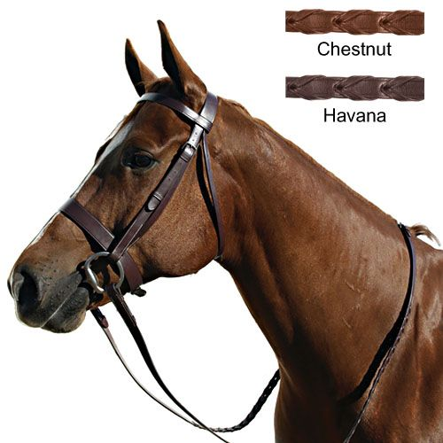 Paris Tack Hunt Bridle Cob Chestnut