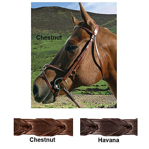 Paris Tack Figure 8 Bridle Warmblood Chestnut Best Price