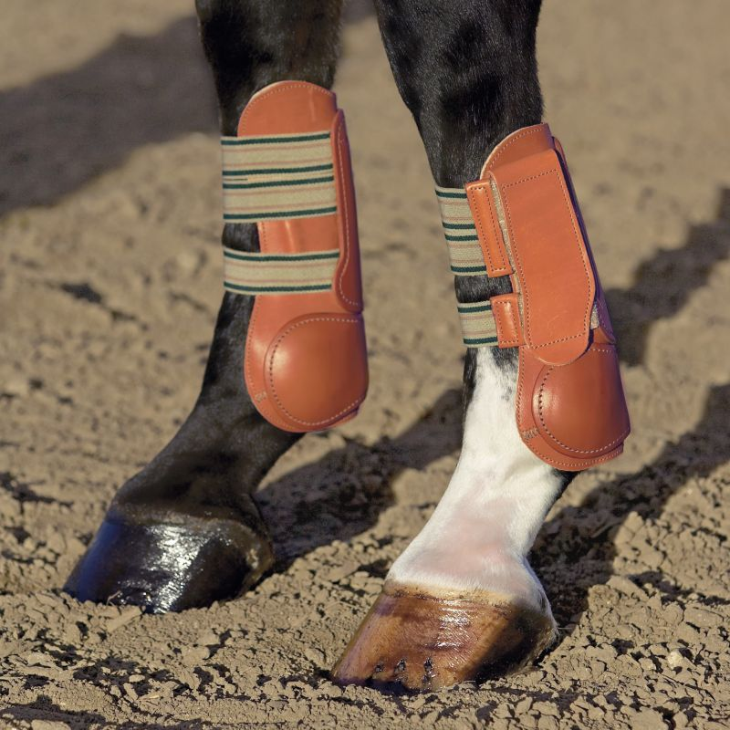 Classic Equine Open Leather Velcro Boots Small