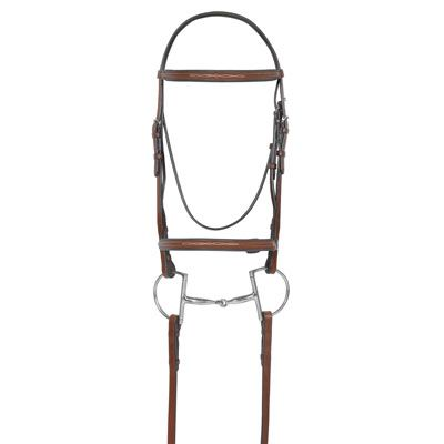 Camelot Fancy StitchRound Rsd Bridle Brown O/S