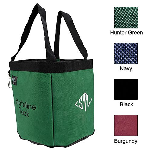 Stable Tote with Monogram Burgundy