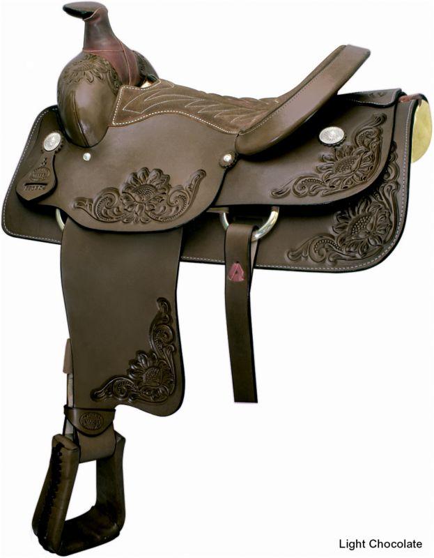 Billy Cook Saddlery Roping Saddle Light Chocolate