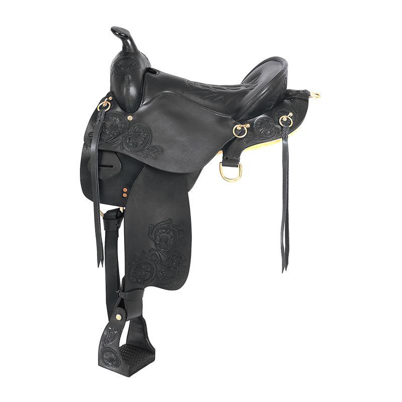 King Trekker Saddle with Horn 15.5In Black