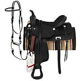 King Basic Leather Trail Saddle Package