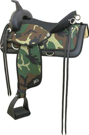 Abetta Camo Pathfinder Trail Saddle Green Camo 15I