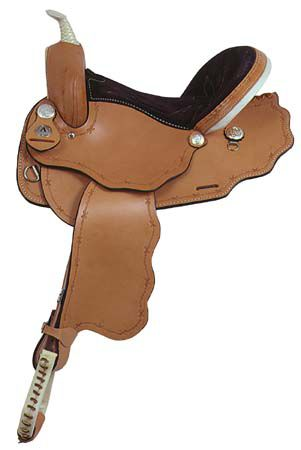 American Saddlery Scalloped Barrel Saddle 15In