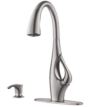 Indira Pull-Down Kitchen Faucet (Stainless Steel)