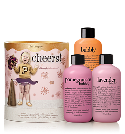 cheers! 3 pc.  holiday gift set  philosophy