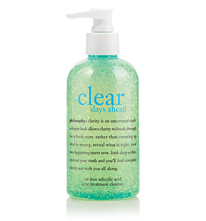 oil-free salicylic acid acne treatment cleanser - clear days ahead - clear days ahead 8 oz.
