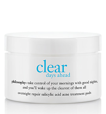 overnight repair salicylic acid acne treatment pads - clear days ahead - clear days ahead 60 ct.