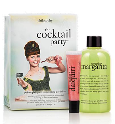 senorita margarita shower gel, melon daiquiri lip  - the cocktail party - bath & body value sets 2 pc.
