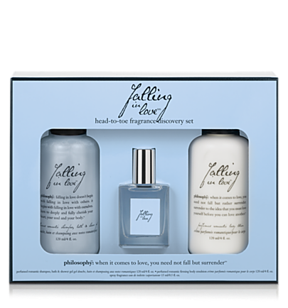 head-to-toe fragrance discovery set - falling in love - falling in love 3 pc.  philosophy