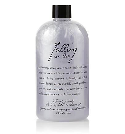 perfumed shampoo, bath & shower gel - falling in love - falling in love 16 oz.