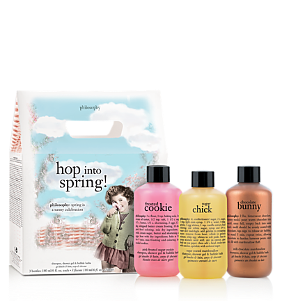 sugar chick, chocolate bunny and frosted cookie shampoo, shower gel & bubble baths 6 oz. - hop into spring - sweet & indulgent 3 pc.