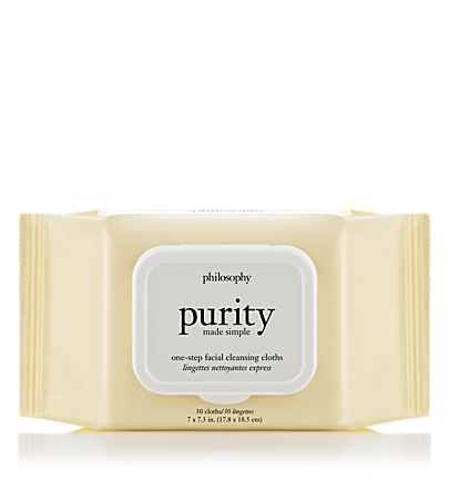 one-step facial cleansing cloths - purity made simple - cleansers 45 count