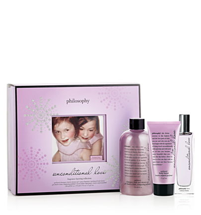 unconditional love 3 pc.  holiday gift set  philosophy