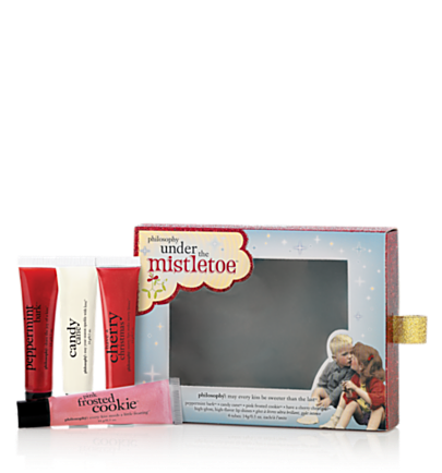 under the mistletoe 4 pc.  holiday gift set  philosophy