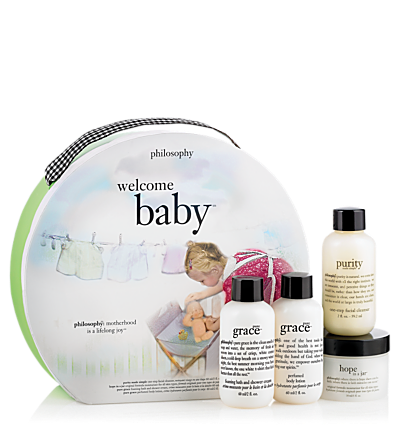 new mommy gift set - welcome baby - bath & body value sets 4 pc.
