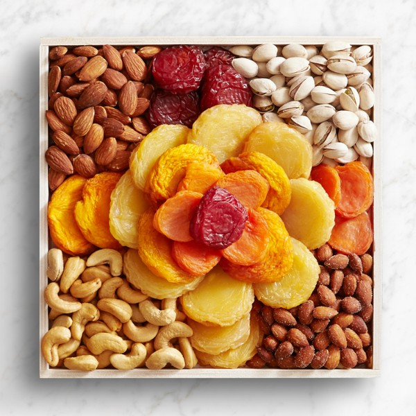 Dried Fruit & Nut Rose Gift Tray
