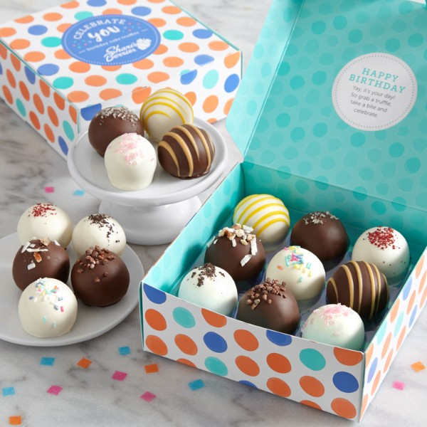 18 Birthday Cake Truffles™ Cake Balls With Hidden Messages