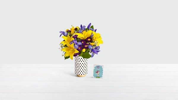Dutch Sunshine with Limited Edition 20th Birthday Vase & Enamel Pin