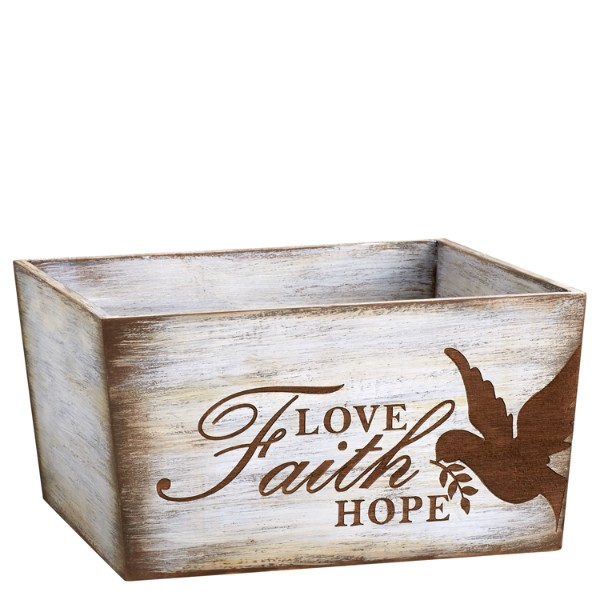 Faith Love Hope Sympathy Trug