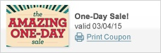 The Amazing One-Day Sale!
