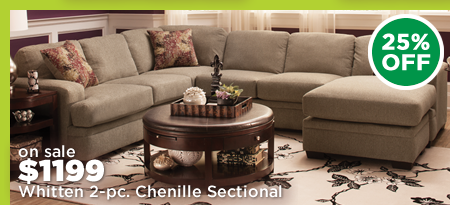 Whitten 2-pc. Chenille Sectional