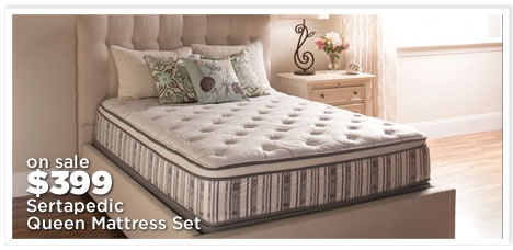 Sertapedic Queen Mattress Sets $399