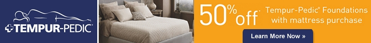 Tempur-Pedic Save 50% off foundations with mattress purchase