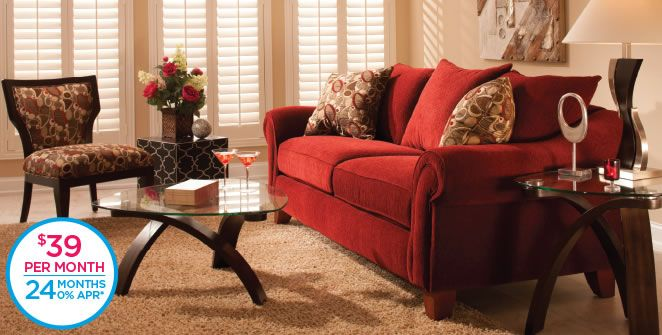 Molly Chenille Sofa And Accent Chair