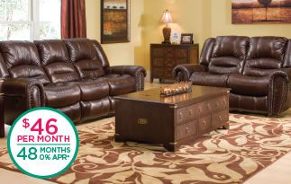 Cole Leather Reclining Sofa And Loveseat