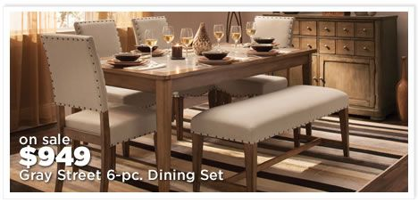 Gray Street 6-pc. Dining Set