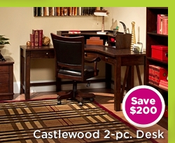 Castlewood 2-pc. Desk