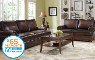 Foster Leather Sofa & Loveseat