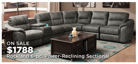 Rockland 6-pc. Microfiber Power-Reclining Sectional Sofa