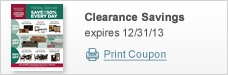 Clearance Savings - expire 12/31/13