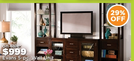 Evans 5-pc. Wall Unit