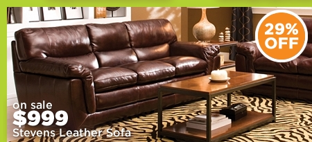 Stevens Leather Sofa