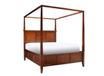 Westlake Queen Canopy Storage Platform Bed