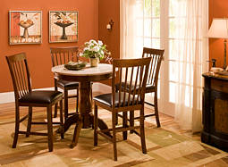 "Serafina 5-pc. 34"" Counter-Height Dining Set"