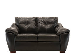 Marshall Bonded-Leather Loveseat