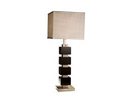 Cappuccino Cube Table Lamp
