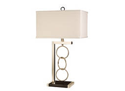 Three Ring Chrome Table Lamp