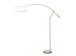 Sand Chrome Arc Floor Lamp