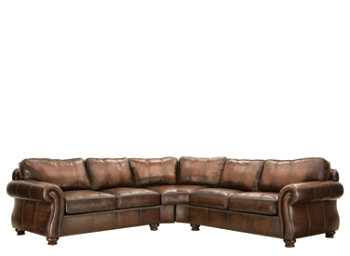 Van Gogh Leather Sectional Group by Bernhardt - Baer's Furniture