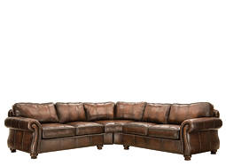 Van Gogh 2-pc. Leather Sectional Sofa