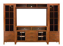 "Maxwell Street 4-pc. Wall Unit w/ 60"" TV Console and Lighting"