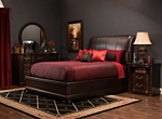 Belmont Leather 4-pc. Queen Platform-Look Bedroom Set